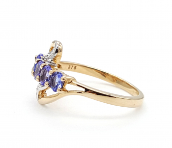 Damen Ring AAA Tansanit  9 Karat 375 GG 57 - 18,0 mm 1,61 ct.